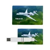 Card USB Drive 4GB-Falcon 5X Over Green Landscape