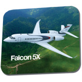 Full Color Mousepad-Falcon 5X Over Green Landscape