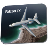Full Color Mousepad-Falcon 7X Over Beach