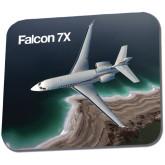 Full Color Mousepad-Falcon 7X Over Beach