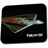 Full Color Mousepad-Falcon 8X Color Computer Illustration