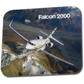 Full Color Mousepad-Falcon 2000S Over Snowy Mountain