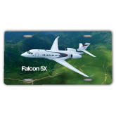 License Plate-Falcon 5X Over Green Landscape