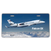 License Plate-Falcon 5X Over Clouds