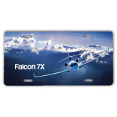 License Plate-Falcon 7X Over Mountains
