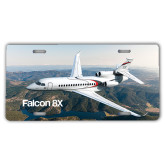 License Plate-Falcon 8X Over River