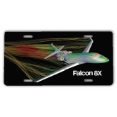 License Plate-Falcon 8X Color Computer Illustration