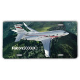 License Plate-Falcon 2000LXS Over Green Mountain