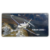 License Plate-Falcon 2000S Over Snowy Mountain