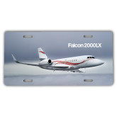 License Plate-Falcon 2000LX Silver Lining