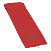 Red Golf Towel-Dassault Falcon