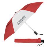42 Inch Slim Stick Red/White Vented Umbrella-Dassault Falcon