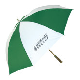 64 Inch Kelly Green/White Umbrella-Dassault Falcon