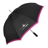 46 Inch Black w/Fuchsia Trim Umbrella-Dassault Falcon