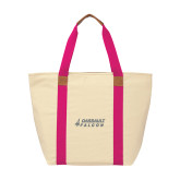 Natural/Tropical Pink Saratoga Tote-Dassault Falcon