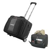 Wenger Transit Wheeled Black Compu Briefcase-Dassault Falcon