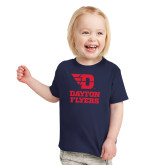 Toddler Navy T Shirt-Dayton Flyers Stacked