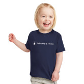 Toddler Navy T Shirt-Horizontal University Logo