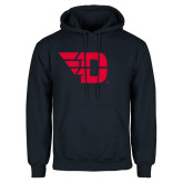 Navy Fleece Hoodie-Flying D