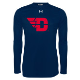 Under Armour Navy Long Sleeve Tech Tee-Flying D