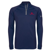 Under Armour Navy Tech 1/4 Zip Performance Shirt-Dayton Flyers