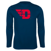 Performance Navy Longsleeve Shirt-Flying D