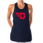 Ladies Under Armour Navy Pinhole Tank-Flying D