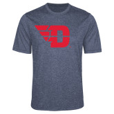 Performance Navy Heather Contender Tee-Flying D