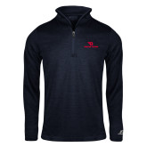 Russell Navy Heather 1/4 Zip-Dayton Flyers
