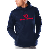 Under Armour Navy Armour Fleece Hoodie-Dayton Flyers