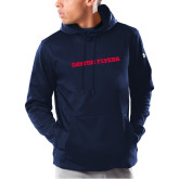 Under Armour Navy Armour Fleece Hoodie-Athletics Wordmark