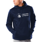 Under Armour Navy Armour Fleece Hoodie-Primary University Logo
