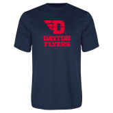 Performance Navy Tee-Dayton Flyers Stacked