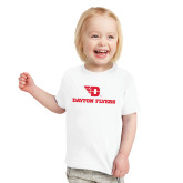 Toddler White T Shirt-Dayton Flyers