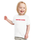 Toddler White T Shirt-Athletics Wordmark