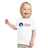 Toddler White T Shirt-Primary University Logo