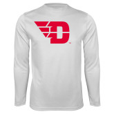Performance White Longsleeve Shirt-Flying D
