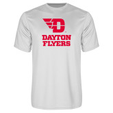 Performance White Tee-Dayton Flyers Stacked