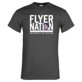 Charcoal T Shirt-Flyer Nation