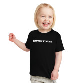 Toddler Black T Shirt-Athletics Wordmark
