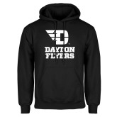 Black Fleece Hoodie-Dayton Flyers Stacked