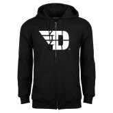 Black Fleece Full Zip Hoodie-Flying D