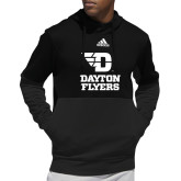 Adidas Black Team Issue Hoodie-Dayton Flyers Stacked