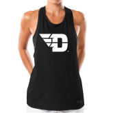 Ladies Under Armour Black Pinhole Tank-Flying D