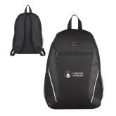 Atlas Black Computer Backpack-Primary University Logo