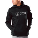 Under Armour Black Armour Fleece Hoodie-Primary University Logo