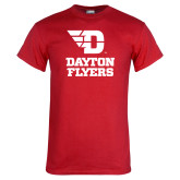 Red T Shirt-Dayton Flyers Stacked