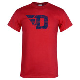 Red T Shirt-Flying D Distressed