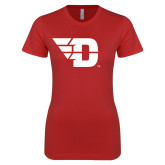 Next Level Ladies SoftStyle Junior Fitted Red Tee-Flying D