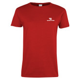 Ladies Red T Shirt-Dayton Flyers